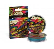 Плетёный шнур TAKARA MULTICOLOR Rainbow Bird 130m 0.14mm 7.60kg