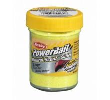 "Паста ""Berkley"" форелевая PowerBait Natural Scent Liver Sunshine Yellow 50gr"