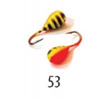 Мормышка W Spider Капля с отверст. краш. 6,0 мм 2,60 гр. 53